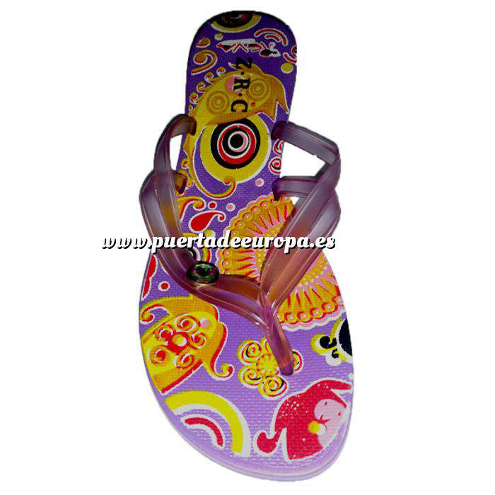 Imagen Tallas 40-42 Chancla Playa Morada Colorines Talla 40 (PDE) (Últimas Unidades)