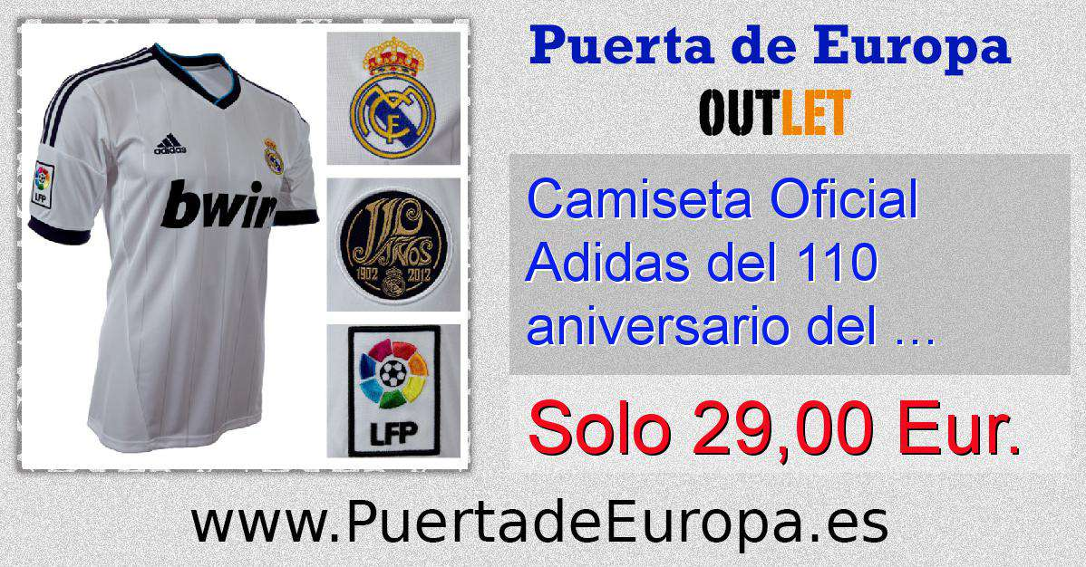 6cbefd17d7f56 Camiseta Oficial Adidas del 110 aniversario del Real Madrid ...