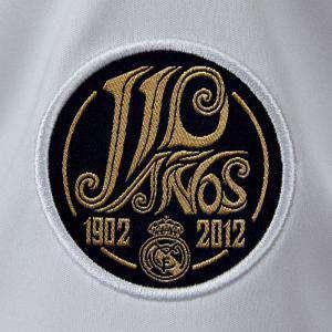 Imagen Camiseta Real Madrid Camiseta Oficial Adidas del 110 aniversario del Real Madrid - Talla S Blanca
