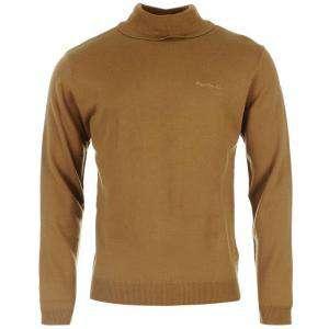 Jerseys Pierre Cardin - Jersey fino de cuello alto CAMEL Pierre Cardin - Talla XXL (Últimas Unidades)