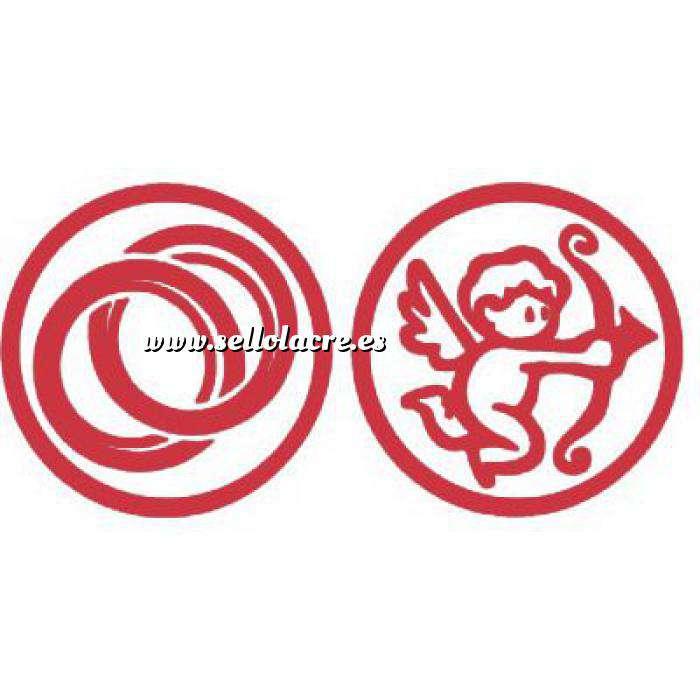 Imagen 2 Iniciales Intercambiables Placa para Sello vacío Anillos / Cupido (71203)