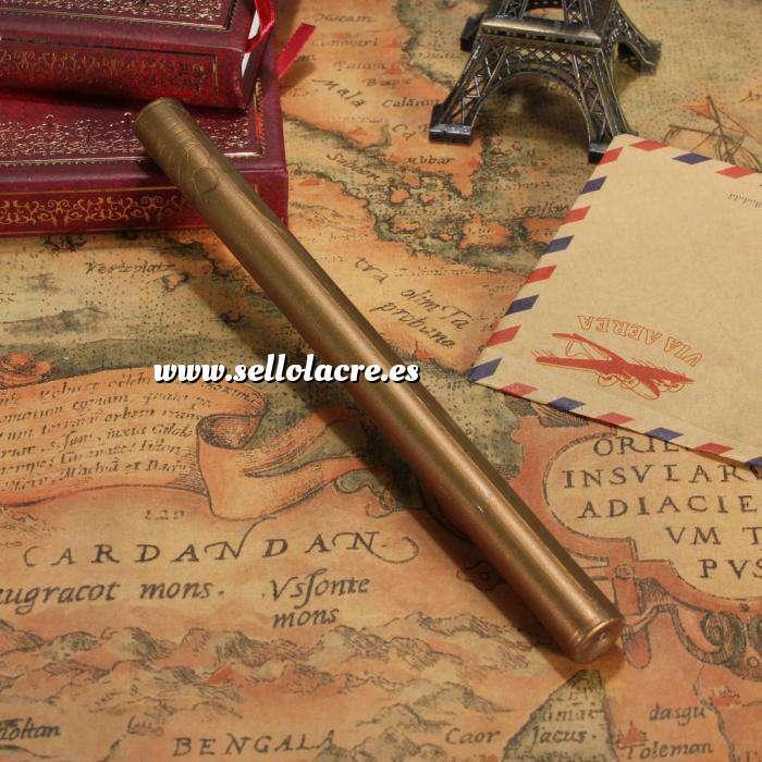 Imagen Barras para pistola Barra Lacre 10mm Flexible Dorado Oscuro Metalizado para Pistola (Últimas Unidades)