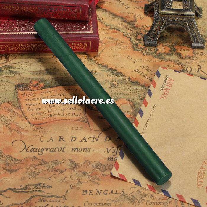 Imagen Barras para pistola Barra Lacre 10mm Flexible Verde Botella para Pistola