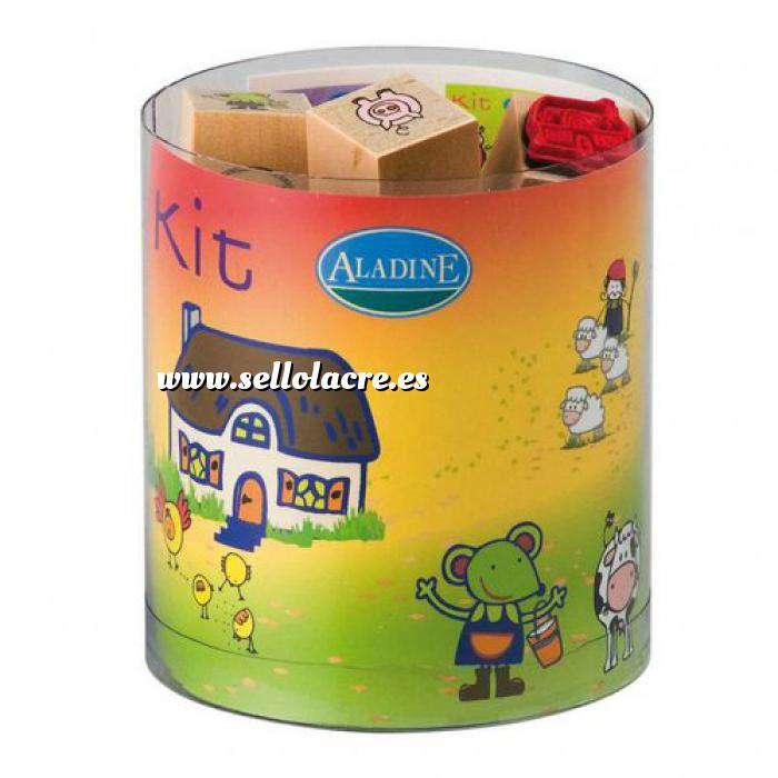 Imagen Kits Infantiles y Bautizo KIT 15 SELLOS DE CAUCHO LILI A LA GRANJA (Últimas Unidades)