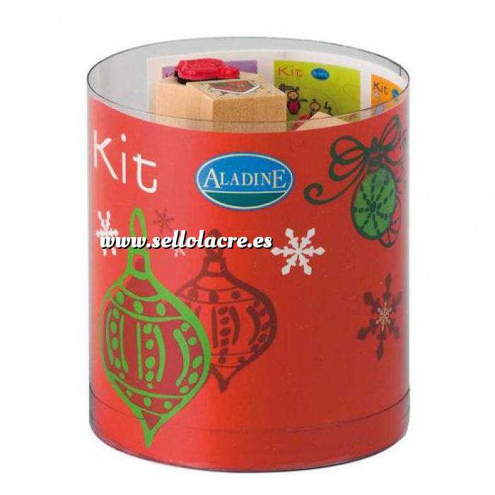 Imagen Kits Infantiles y Bautizo Sellos Navidad 2. Incluye 15 diseños y 1 tampón negro (Descatalogado) (ultimas uds) (Últimas Unidades)