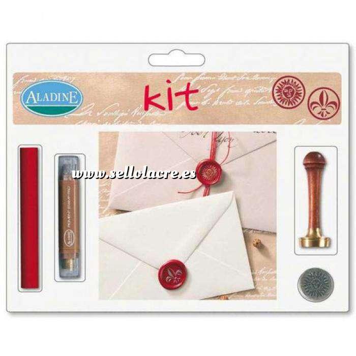 Imagen Kits de sellos de lacre KIT LACRE FLOR DE LIS-SOL