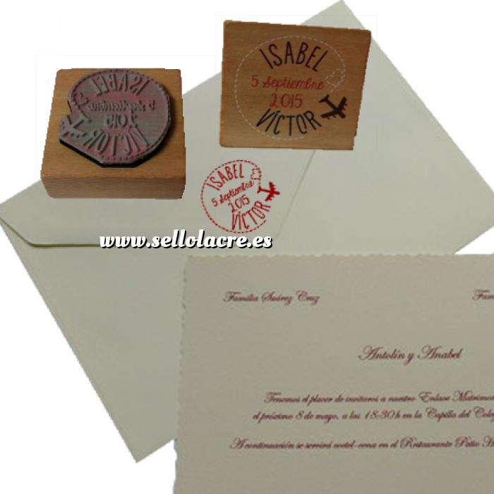 Imagen Personalizado Taco madera 5x5 Sello de Caucho TACO DE MADERA 5x5 cm - Personalizado con tu diseño