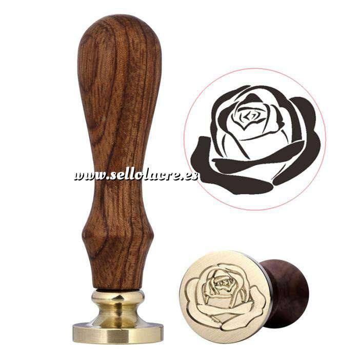 Imagen Símbolos Sello lacre mango largo - BODAS - Rosa grande (Últimas Unidades)