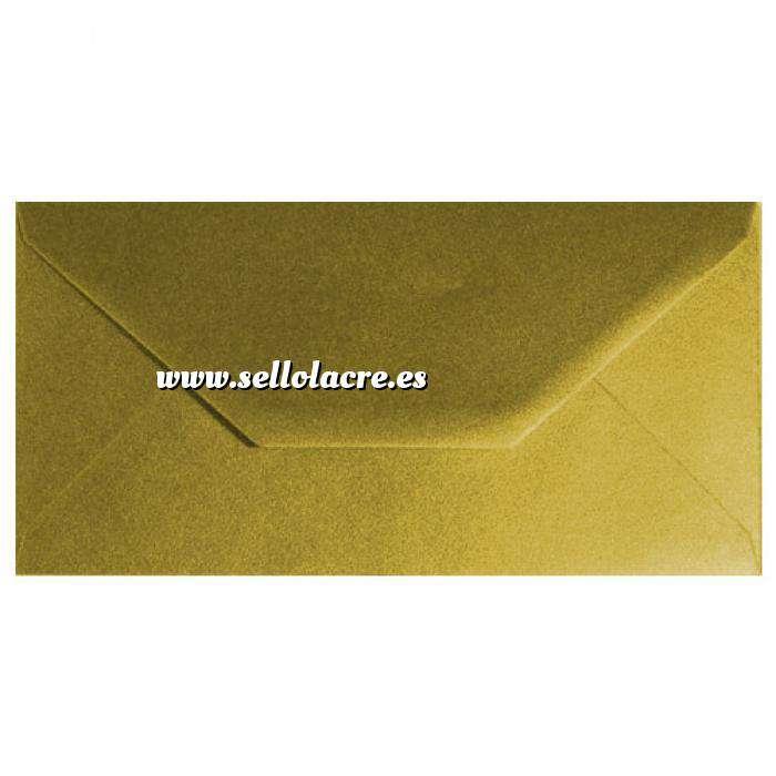 Imagen Sobre Americano DL 110x220 Sobre Dorado Metálico DL