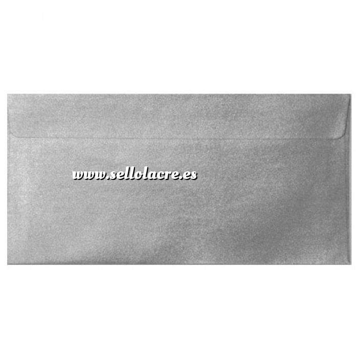 Imagen Sobre Americano DL 110x220 Sobre Perlado Plata DL