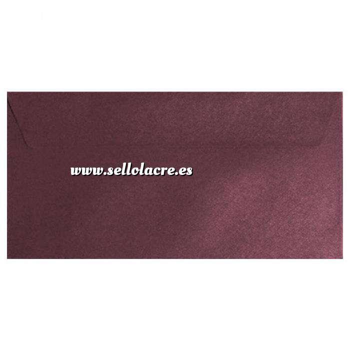 Imagen Sobre Americano DL 110x220 Sobre textura rojo DL - Vino Burdeos