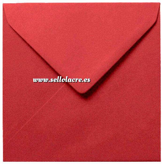Imagen Sobres Cuadrados Sobre burdeos Cuadrado (rojo escarlata)