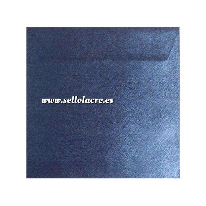 Imagen Sobres Cuadrados Sobre textura azul Cuadrado (Azul Real)