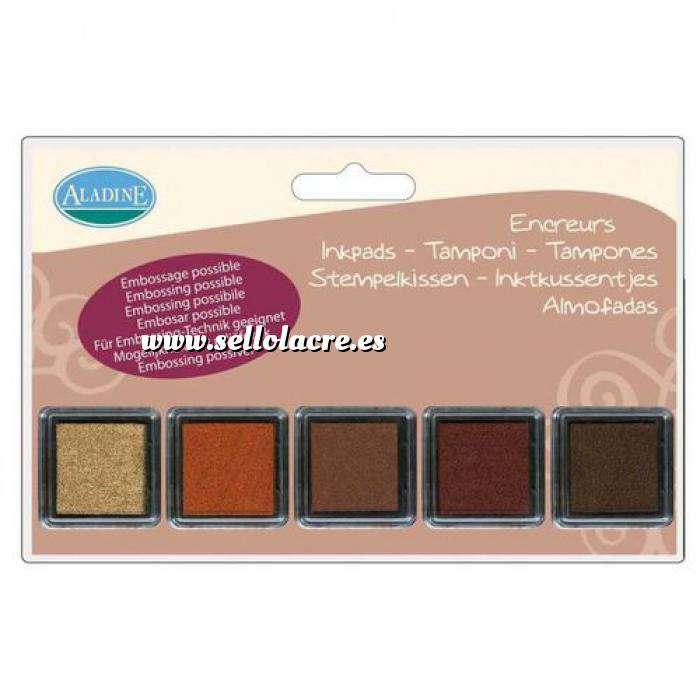 Imagen Tampones de TINTA 5 tampones camafeo marrón (Últimas Unidades)