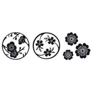 Decorativos - SELLO CAUCHO CUBO FLORES DE SAKURA (Últimas Unidades)