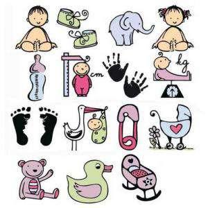 Imagen Kits Infantiles y Bautizo Sellos bautizo 2. Incluye 15 diseños y 1 tampón negro (Descatalogado) (ultimas uds) (Últimas Unidades)
