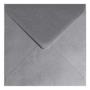 Sobres Cuadrados - Sobre Plata Cuadrado Metálico