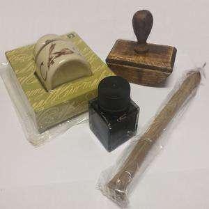 Imagen Útiles de Caligrafía Set de Escritura Antiguo (Ultimas unidades)