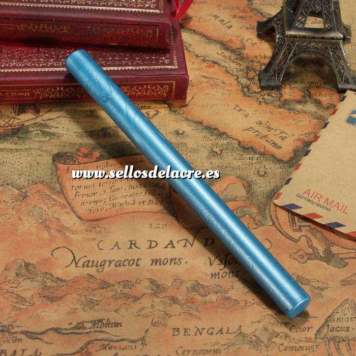Imagen Barras para pistola Barra Lacre 10mm Flexible Azul Capri Metalizado para Pistola