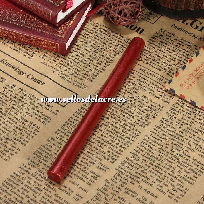 Imagen Barras para pistola Barra Lacre 10mm Flexible Rojo Vino Metalizado para Pistola (Últimas Unidades)