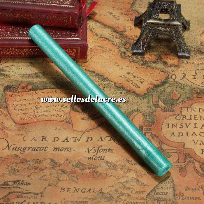 Imagen Barras para pistola Barra Lacre 10mm Flexible Verde Esmeralda Metalizado para Pistola