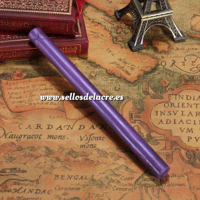 Imagen Barras para pistola Barra Lacre 10mm Flexible pistola MORADO Brillante