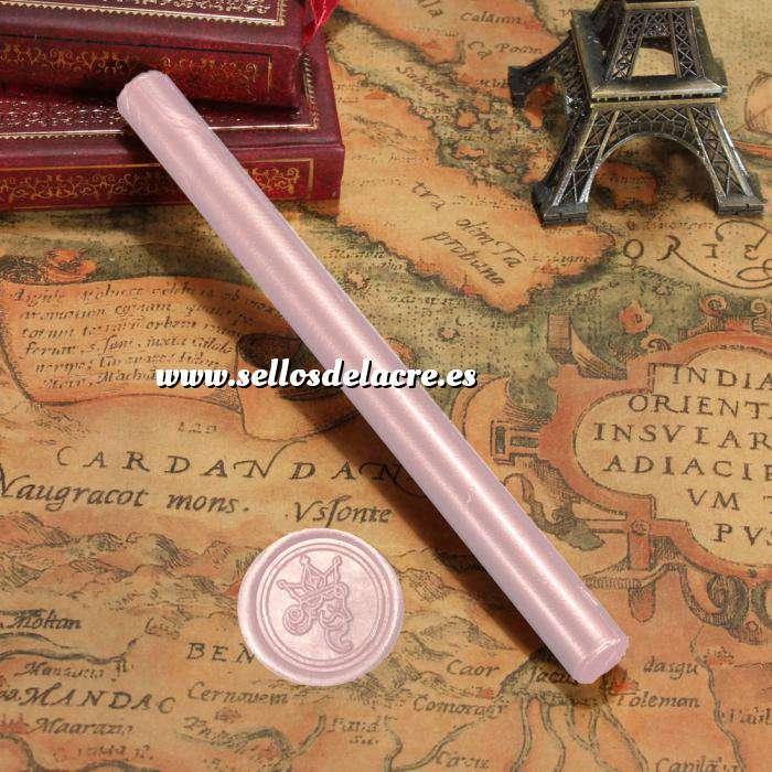 Imagen Barras para pistola Barra Lacre 10mm Flexible pistola ROSA CREPE Brillante