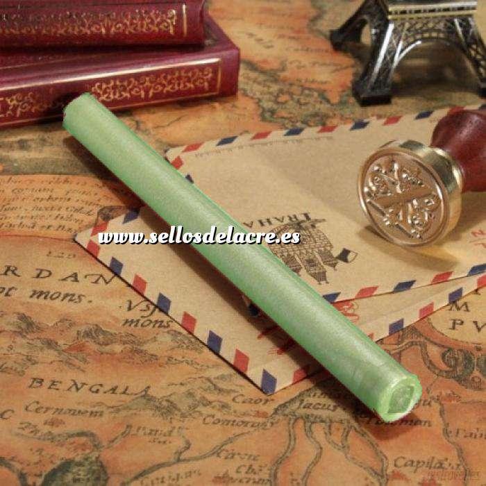 Imagen Barras para pistola Barra Lacre 10mm Flexible pistola VERDE AGUA BRILLANTE