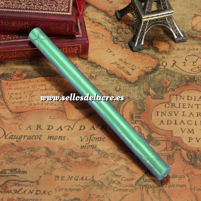 Imagen Barras para pistola Barra Lacre 10mm Flexible pistola VERDE ESMERALDA METALIZADO