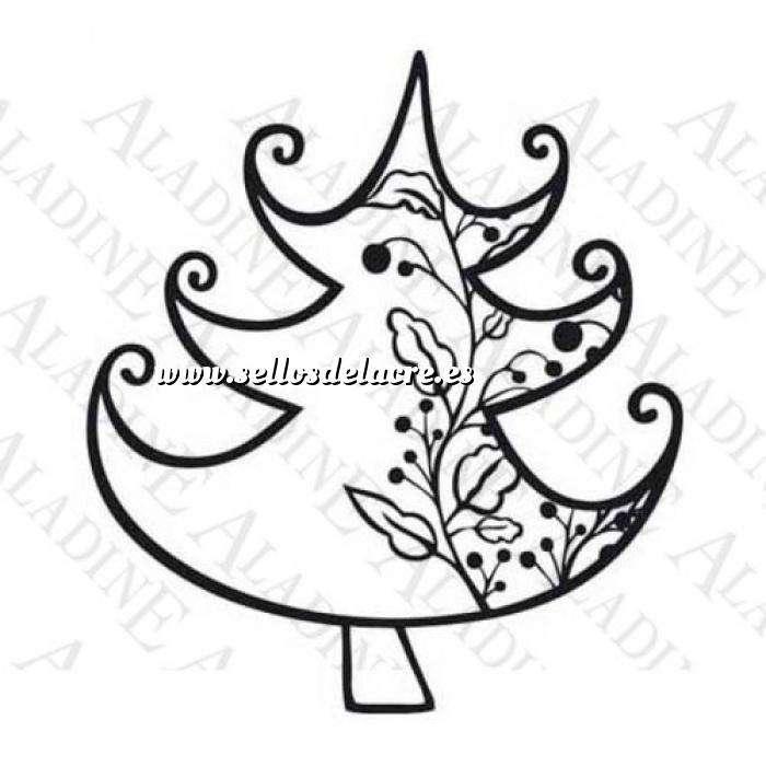 Imagen Decorativos Sello de Caucho - Árbol con guirnalda (01351) (Últimas Unidades)