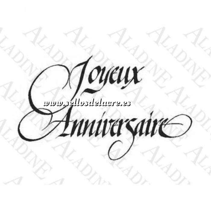 Imagen Iniciales y textos SELLO CAUCHO JOYEUX ANNIVERSAIRE N°3 (Últimas Unidades)
