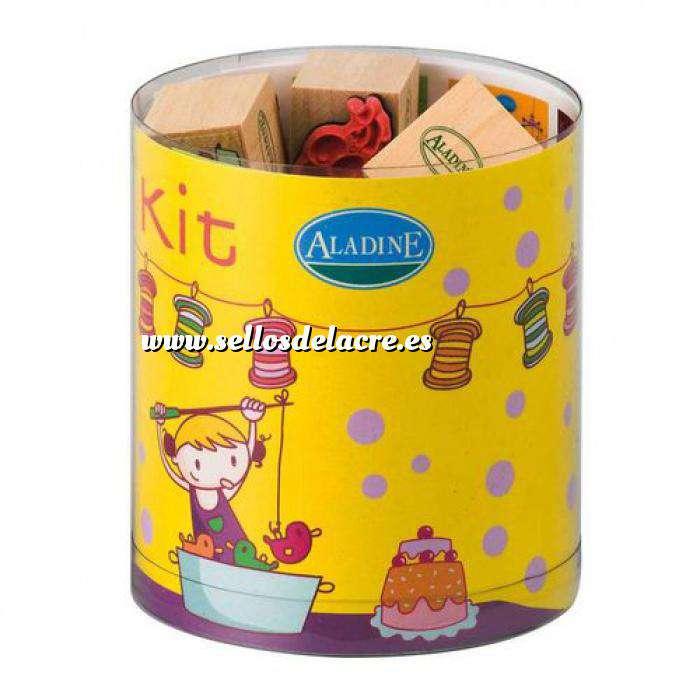 Imagen Kits Infantiles y Bautizo KIT 15 SELLOS DE CAUCHO CUMPLEANOS (Últimas Unidades)