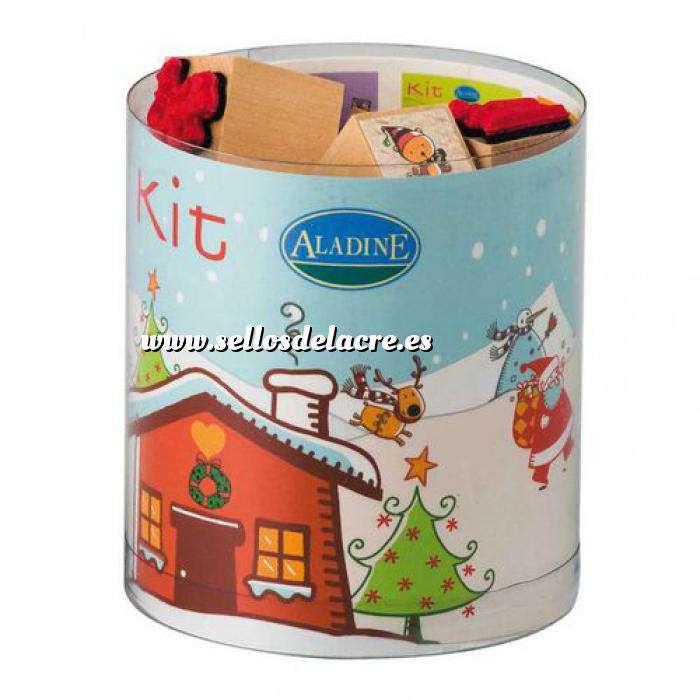 Imagen Kits Infantiles y Bautizo Sellos Navidad. Incluye 15 diseños y 1 tampón negro (Últimas Unidades)