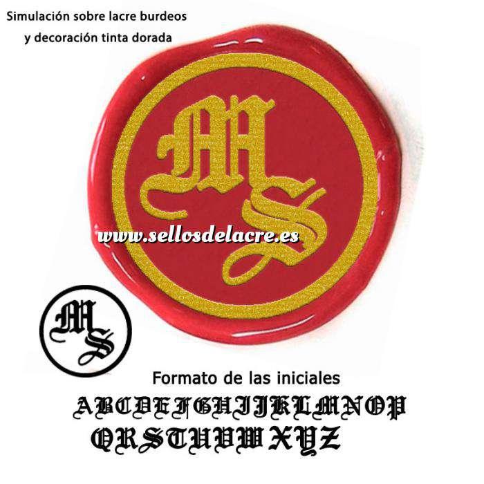 Imagen Personalizado con TU diseño Sello Lacre 2.5 cms. Iniciales medievales