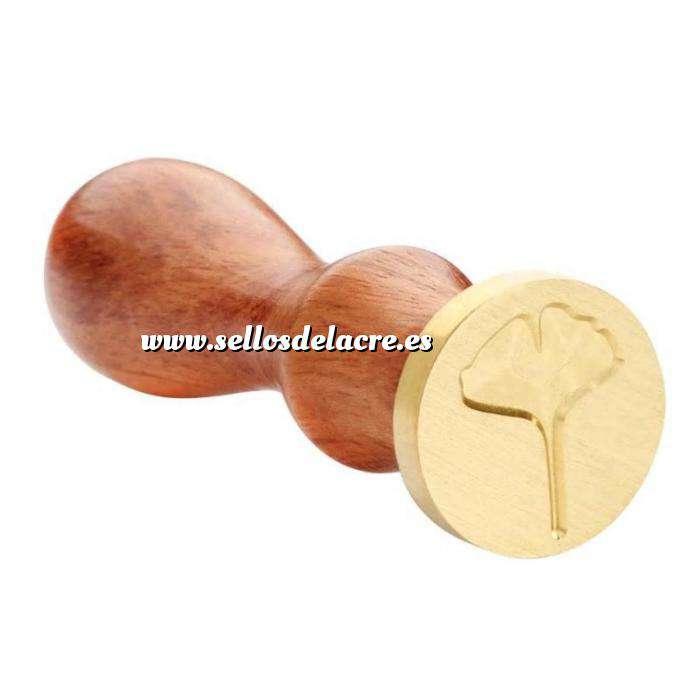 Imagen Símbolos Sello lacre mango largo - HOJAS - MOD 6(Últimas Unidades) (Últimas Unidades)