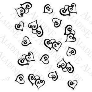Decorativos - SELLO CAUCHO FONDO CORAZONES ESPIRALES (Últimas Unidades)