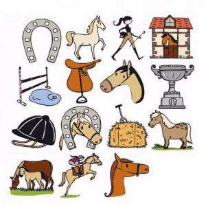 Imagen Kits 15 sellos KIT 15 SELLOS CABALLOS (Últimas Unidades)