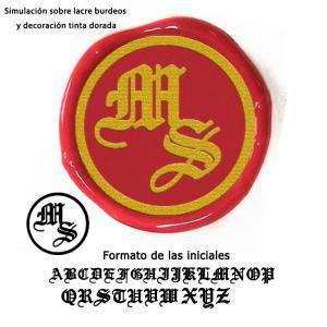 Personalizado con TU diseño - Sello Lacre 2.5 cms. Iniciales medievales