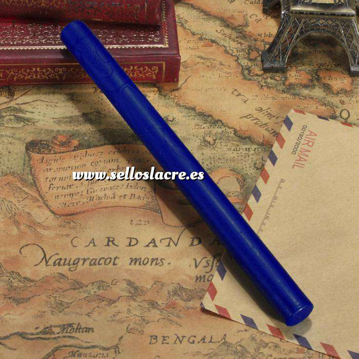 Imagen Barras para pistola Barra Lacre 10mm Flexible Pistola AZUL INTENSO