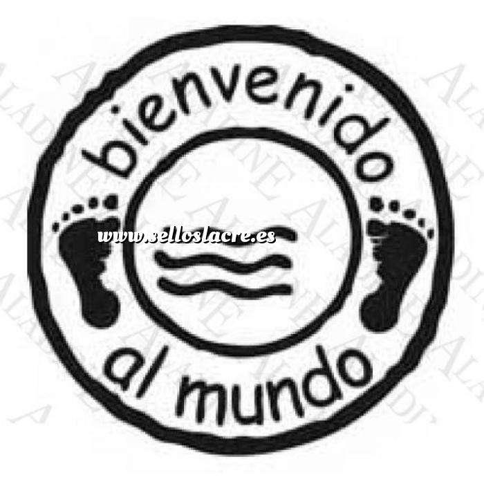 Imagen Bautizo SELLO CAUCHO BIENVENIDO AL MUNDO (Descatalogado) (ultima ud) (Últimas Unidades)