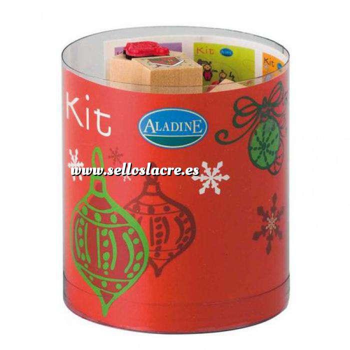 Imagen Kits 15 sellos Sellos Navidad 2. Incluye 15 diseños y 1 tampón negro (Descatalogado) (ultimas uds) (Últimas Unidades)