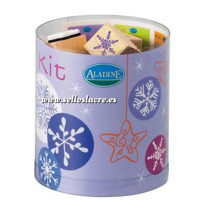 Imagen Kits 15 sellos Sellos Nieve. Incluye 15 diseños y 1 tampón negro (Descatalogado) (ultimas uds) (Últimas Unidades)