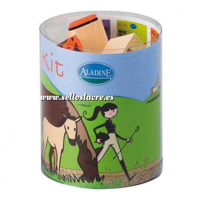 Imagen Kits Infantiles y Bautizo KIT 15 SELLOS DE CAUCHO CABALLOS (Últimas Unidades)