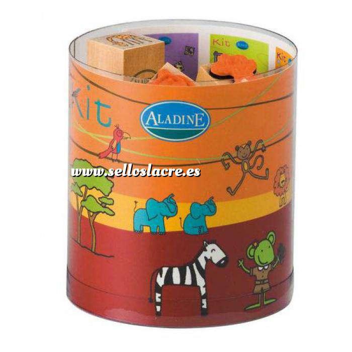 Imagen Kits Infantiles y Bautizo KIT 15 SELLOS DE CAUCHO EN LA SABANA (Últimas Unidades)