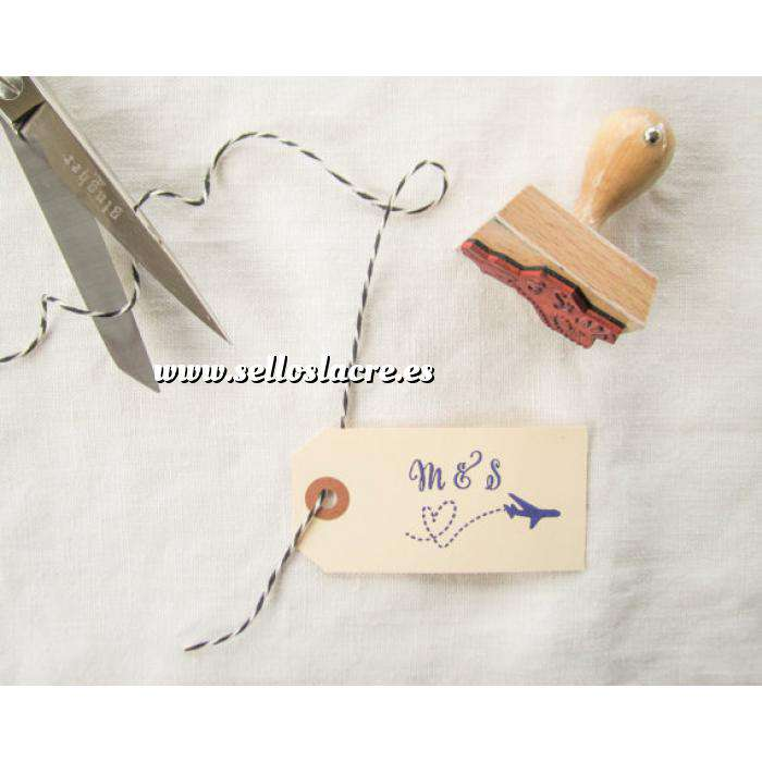 Imagen Personalizado RECTANGULAR Sello de Caucho RECTANGULAR 2x3 o 3x2 - Personalizado con tu diseño