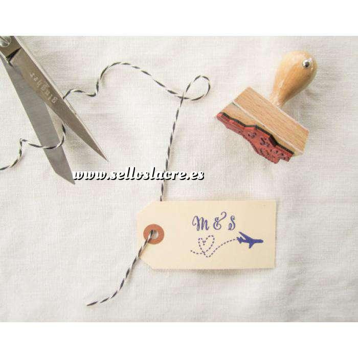 Imagen Personalizado RECTANGULAR Sello de Caucho RECTANGULAR 2x5 o 5x2 - Personalizado con tu diseño