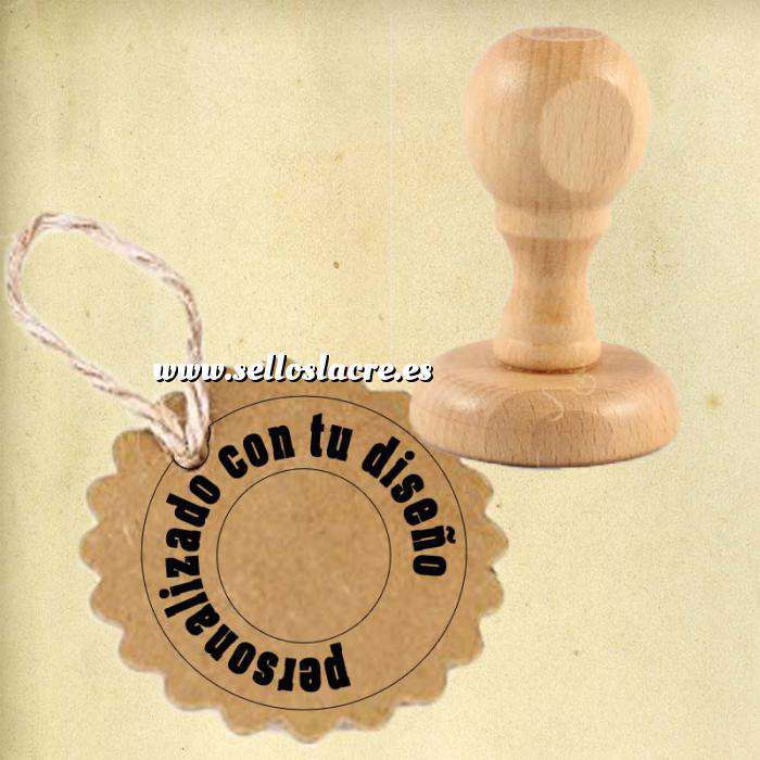 Imagen Personalizado REDONDO Sello de Caucho REDONDO 3 cm diametro - Personalizado con tu diseño