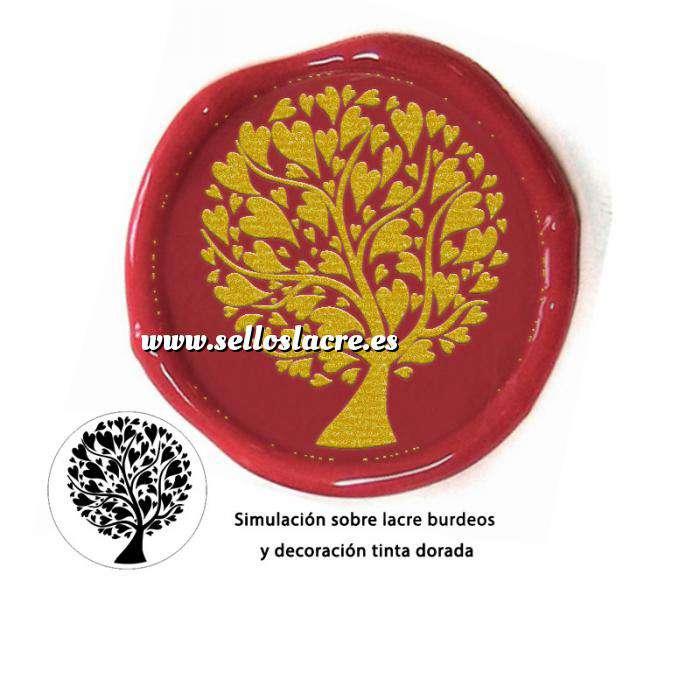 Imagen Personalizado con TU diseño Sello Lacre 3 cms. Árbol del amor