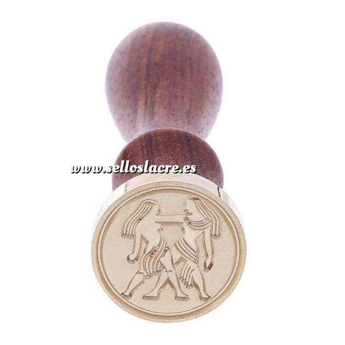 Imagen Símbolos Sello lacre mango largo - SIGNOS DEL ZODIACO 2 - Géminis (Últimas Unidades)