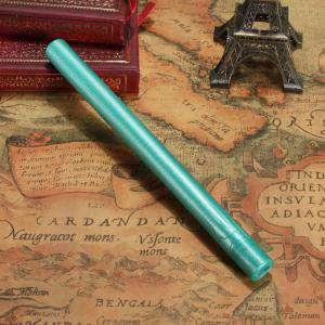 Barras para pistola - Barra Lacre 10mm Flexible Verde Esmeralda Metalizado para Pistola